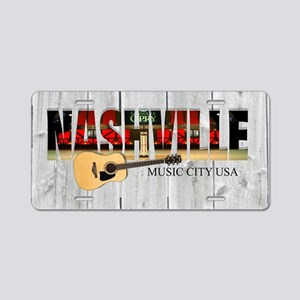 Nashville Music City-LS Aluminum License Plate