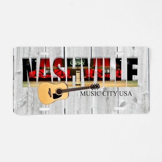 Nashville Music City-LS Aluminum License Plate