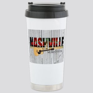 Nashville Music City-LS Stainless Steel Travel Mug