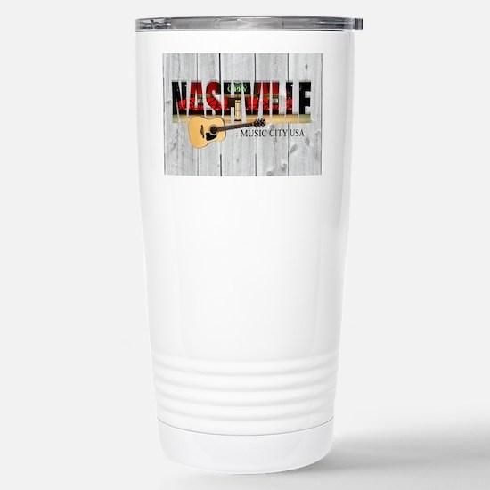 Nashville Music City-LS Stainless Steel Travel Mug