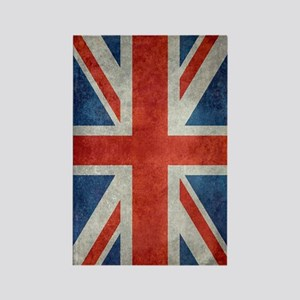 UK British Union Jack flag retro  Rectangle Magnet