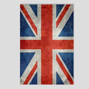 UK British Union Jack fla Postcards (Package of 8)