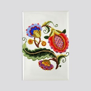 Crewel Embroidery Rectangle Magnet