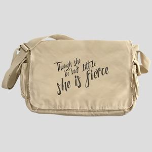 She is Fierce Messenger Bag