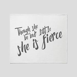 She is Fierce Throw Blanket