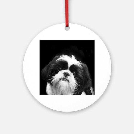Shih Tzu Dog Round Ornament