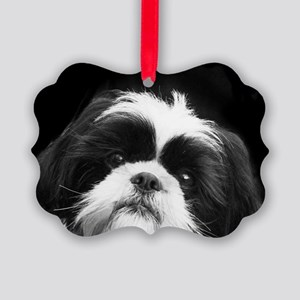 Shih Tzu Dog Picture Ornament
