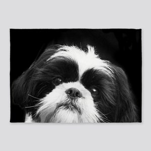 Shih Tzu Dog 5'x7'Area Rug