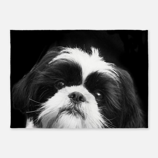 Shih Tzu Dog 5'x7'Area Rug