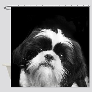 Shih Tzu Dog Shower Curtain