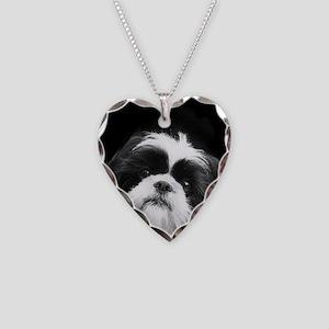 Shih Tzu Dog Necklace Heart Charm