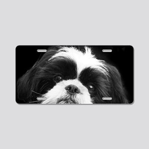 Shih Tzu Dog Aluminum License Plate