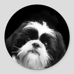 Shih Tzu Dog Round Car Magnet