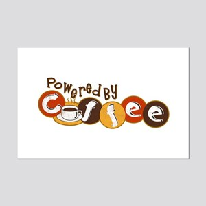 Powered By Coffee Mini Poster Print