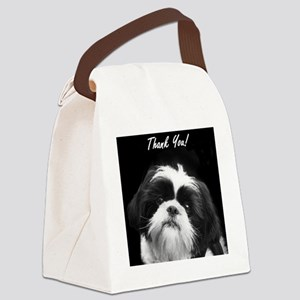 Thank You Shih Tzu Canvas Lunch Bag