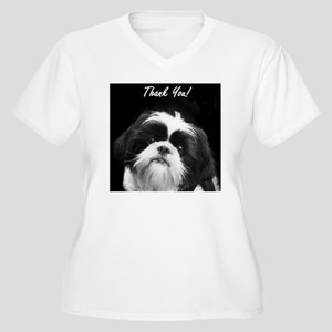 Thank You Shih Tz Women's Plus Size V-Neck T-Shirt
