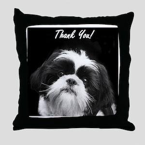 Thank You Shih Tzu Throw Pillow