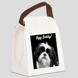 Birthday Shih Tzu Canvas Lunch Bag