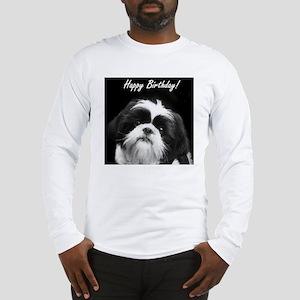 Birthday Shih Tzu Long Sleeve T-Shirt