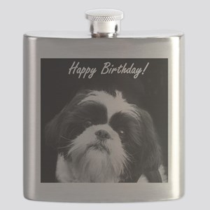 Birthday Shih Tzu Flask