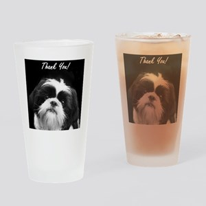Thank You Shih Tzu Drinking Glass