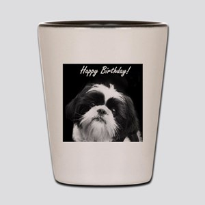 Birthday Shih Tzu Shot Glass