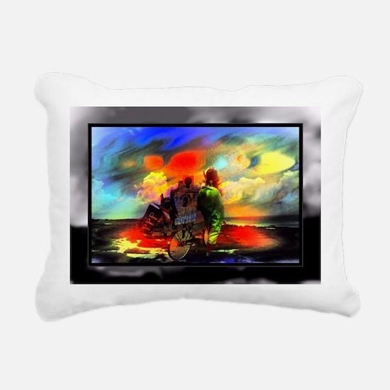 Black Power Rectangular Canvas Pillow