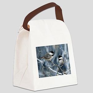 chickadee song bird Canvas Lunch Bag