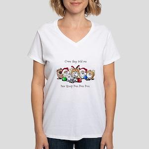 Christmas Pommies Women's V-Neck T-Shirt
