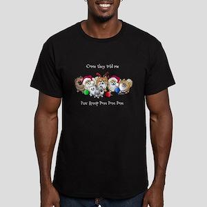 Christmas Pommies Men's Fitted T-Shirt (dark)
