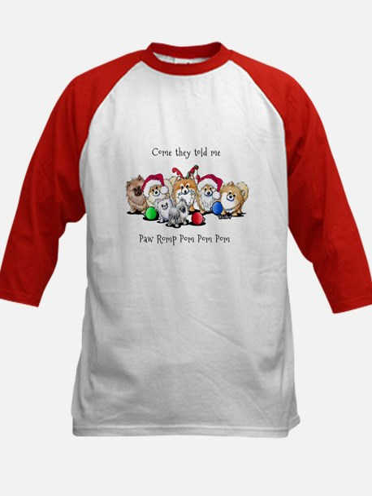 Christmas Pommies Kids Baseball Jersey