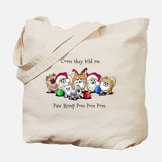 Christmas Pommies Tote Bag