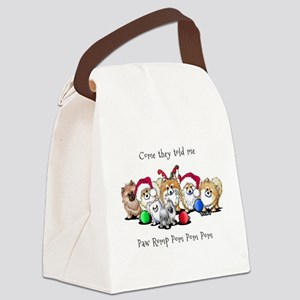 Christmas Pommies Canvas Lunch Bag