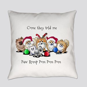 Christmas Pommies Everyday Pillow