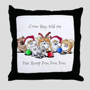 Christmas Pommies Throw Pillow