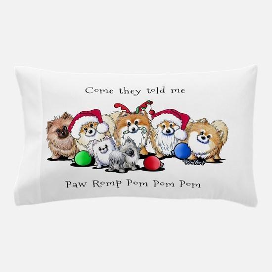 Christmas Pommies Pillow Case