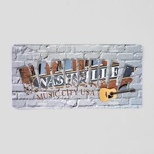 Nashville Music City USA-05 Aluminum License Plate