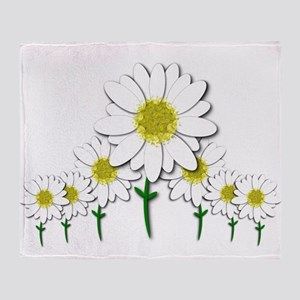 Bunch of Daisies Pattern Design Decor Throw Blanke