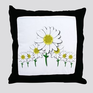 Bunch of Daisies Pattern Design Decor Throw Pillow