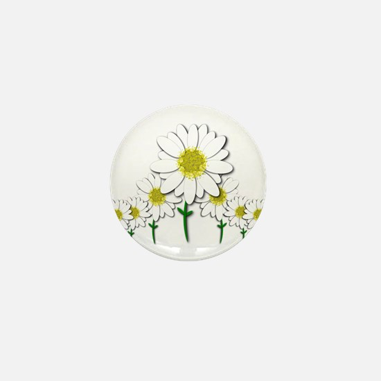Bunch of Daisies Pattern Design Decor Mini Button