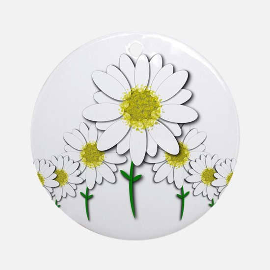 Bunch of Daisies Pattern Design Decor Round Orname