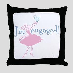 Retro Engaged Throw Pillow