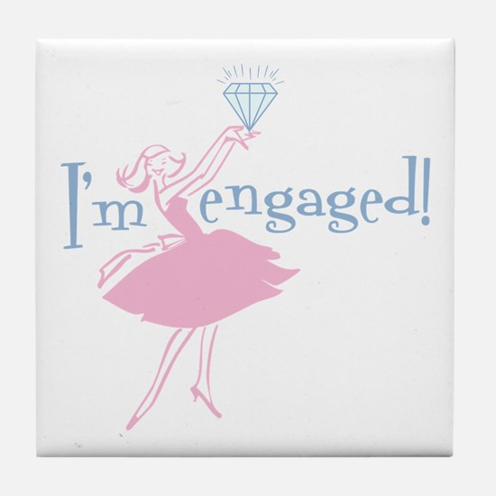Retro Engaged Tile Coaster