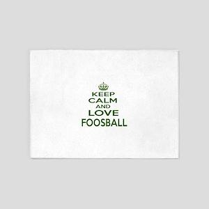 Keep calm and love Foosball 5'x7'Area Rug