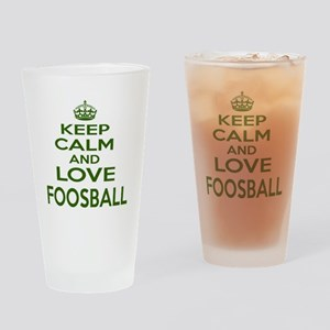 Keep calm and love Foosball Drinking Glass