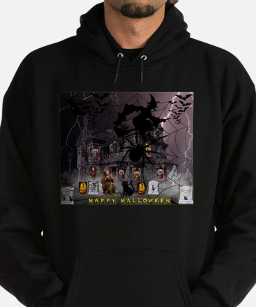 Spidery Witches Haunted House Hoodie