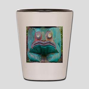 Totem Pole Frog Shot Glass