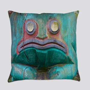 Totem Pole Frog Everyday Pillow