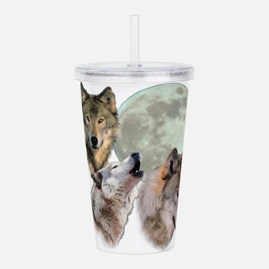 3 Wolf Moon Acrylic Double-wall Tumbler