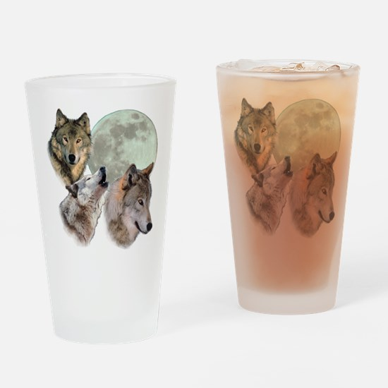 3 Wolf Moon Drinking Glass